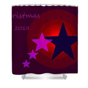 1340 Christmas 2018 Shower Curtain