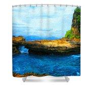 Landscape Painted Shower Curtain