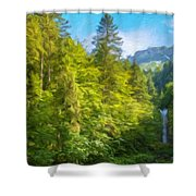Nature Art Original Landscape Paintings Shower Curtain