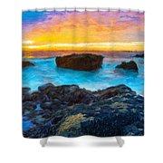 Oil Painting Landscape Pictures Shower Curtain