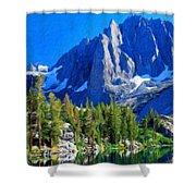 Oil Paintings Art Landscape Nature Shower Curtain