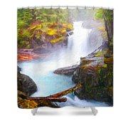 Landscape Oil Painting Nature Shower Curtain
