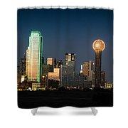 14-0905-141 Dallas Tx Skyline Shower Curtain
