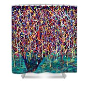 14-26 Green Forest Tree Shower Curtain