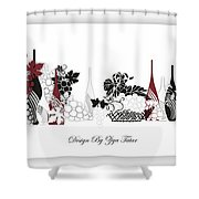 Abstract Monochrome Shower Curtain