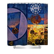 Abstract Painting - Zinnwaldite Brown Shower Curtain