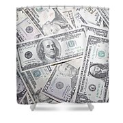 American Banknotes Shower Curtain
