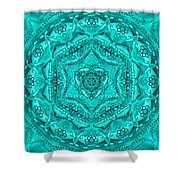 Birth Mandala- Blessing Symbols Shower Curtain
