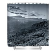 Chilly Winter Sunrise At Lunhgthang Sikkim West Bengal India Shower Curtain
