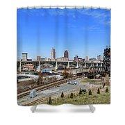 Cleveland Skyline Shower Curtain