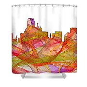 Dallas Texas Skyline Shower Curtain
