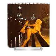 Elle Black Shower Curtain