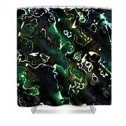 Fractal Modern Art Seamless Generated Texture Shower Curtain
