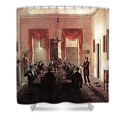 Jlm-1820-henry Sargent-the Dinner Party Henry Sargent Shower Curtain