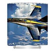Navy Blue Angels Shower Curtain