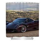 #pagani #huayra #roadster #print Shower Curtain