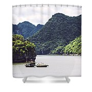 Picturesque Sea Landscape. Ha Long Bay, Vietnam Shower Curtain