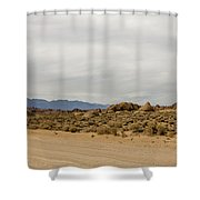 Rocks, Mountains And Sky At Alabama Hills, The Mobius Arch Loop  Shower Curtain