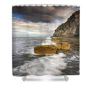 Saltwick Bay Shower Curtain