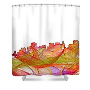 San Francisco California Skyline Shower Curtain