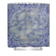 14. V1 Blue And White Splash Glaze Painting Shower Curtain