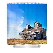 Vintage Grain Elevator Shower Curtain