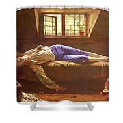 Wallis Henry The Death Of Chatterton Henry Wallis Shower Curtain