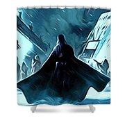 Wars Star Poster Shower Curtain
