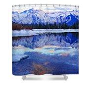 Landscape Paintings Nature Shower Curtain