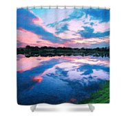 Nature Landscape Jobs Shower Curtain