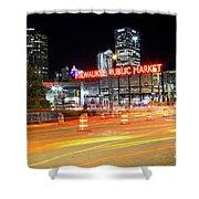 1405 Milwaukee Public Market Shower Curtain