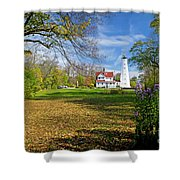 1406 North Point Lighthouse Shower Curtain