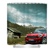 Nature Landscape Illumination Shower Curtain