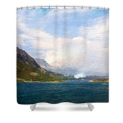 Oil Painting Landscape Pictures Shower Curtain
