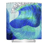 141 - Waves Shower Curtain
