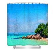 Landscape Paintings Canvas Prints Nature Art  Shower Curtain