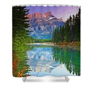 Oil Painting Landscape Pictures Nature Shower Curtain