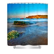 Landscape Definition Nature Shower Curtain