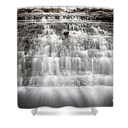 1452 South Elgin Waterfall Shower Curtain