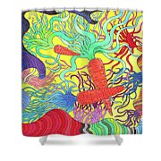 147 - Carrot Canyon Shower Curtain