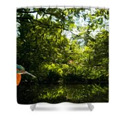 Nature Landscape Lighting Shower Curtain