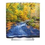 Nature Painted Landscape Shower Curtain