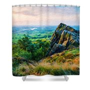 Nature Landscape Oil Shower Curtain