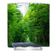 Nature Art Original Landscape Paintings Shower Curtain
