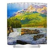 Nature Landscape Oil Shower Curtain