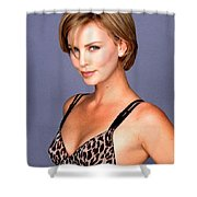 1491 Celebrity Charlize Theron  Shower Curtain