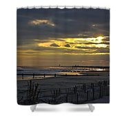 14th Street Fishing Pier Shower Curtain