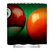 15 And 5 Billiards Shower Curtain