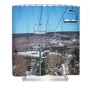 Beautiful Nature And Scenery Around Snowshoe Ski Resort In Cass  Shower Curtain