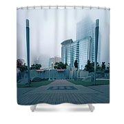 Charlotte North Carolina City Skyline And Downtown Shower Curtain